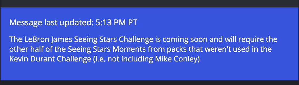 Lebron Challenge confirmation